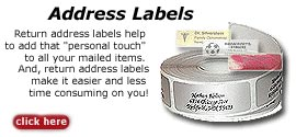 Return address labels: Personalized address labels and foil stamp labels. Use our online address label designs