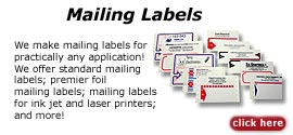 Mailing labels, shipping labels and laser labels: Design laser labels, shipping labels and mailing labels online
