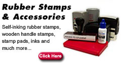 Custom rubbers stamps: Design your custom rubber stamps using our custom rubber stamp design template.